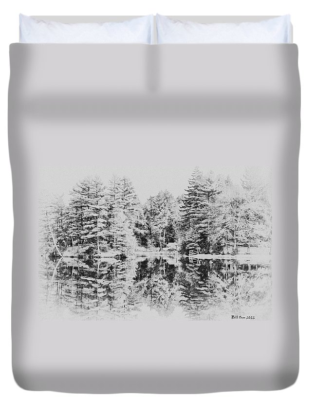 Winter Duvet Cover featuring the photograph Winter Lake by Bill Cannon