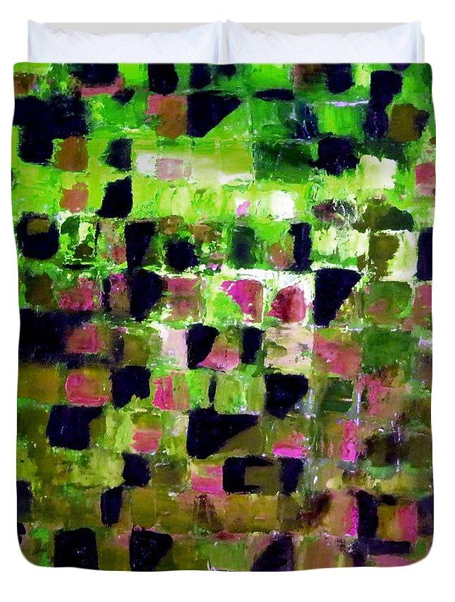 Australian Duvet Cover featuring the painting Winters Wake 2. by Giro Tavitian