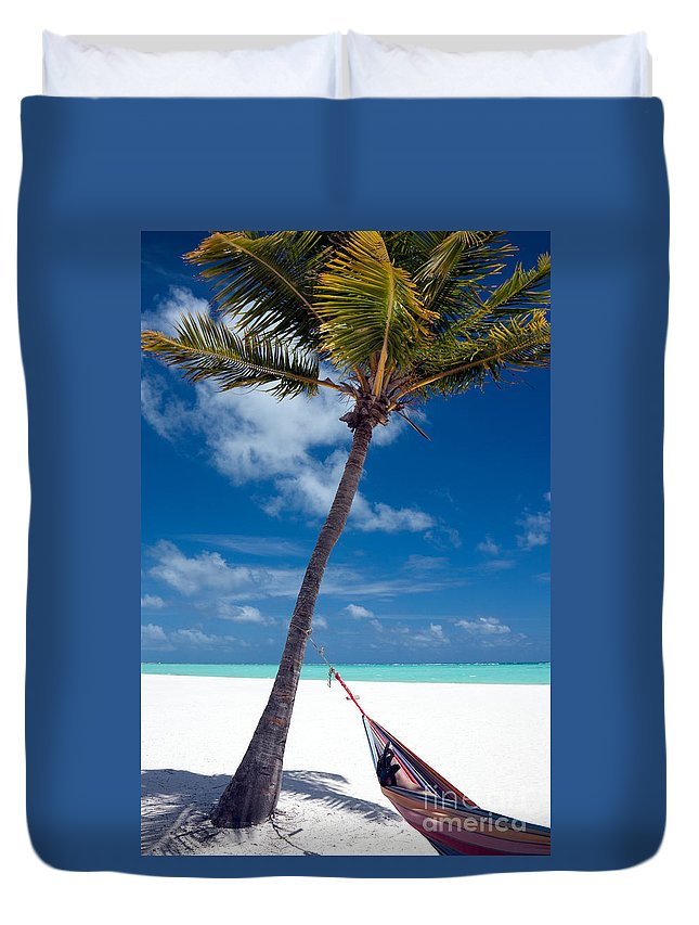 Caribbean Duvet Cover featuring the photograph Wish You Were Here by Karen Lee Ensley