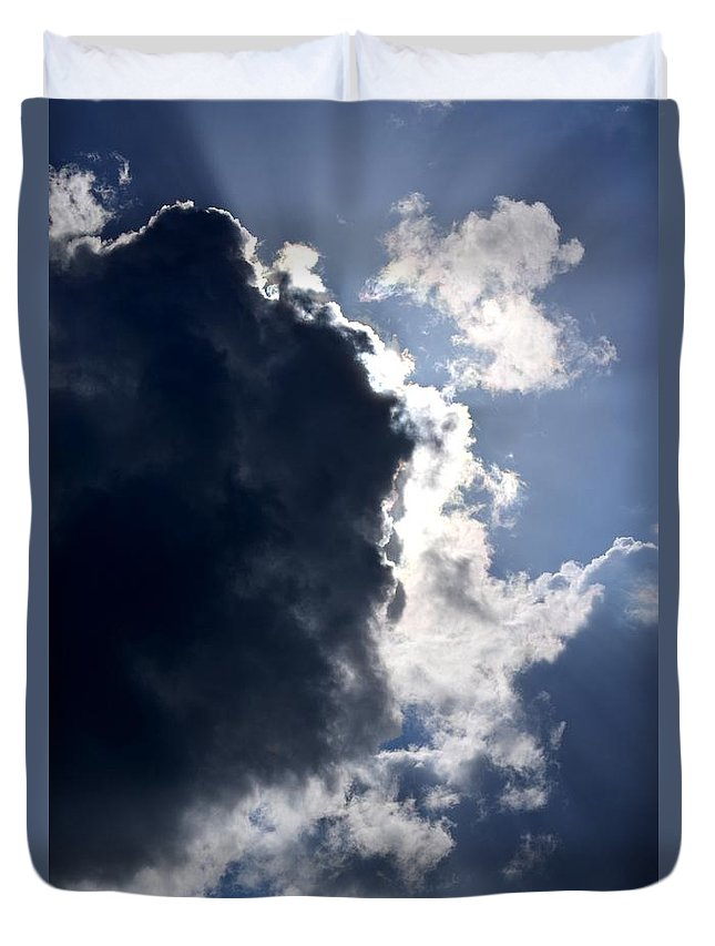 Thunder Duvet Cover featuring the photograph With Thunder He Speaks by Maria Urso