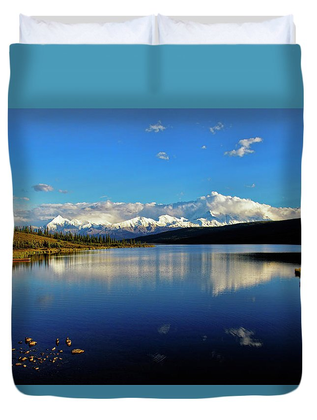 Denali Duvet Cover featuring the photograph Wonder Lake II by Rick Berk