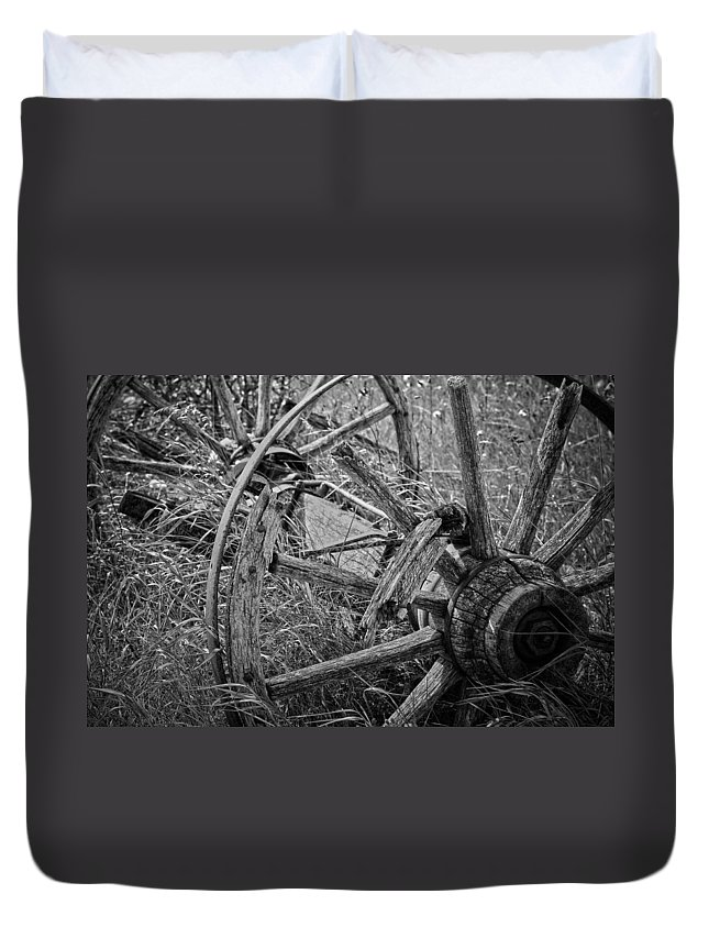 Jerry Cordeiro Duvet Cover featuring the photograph Working Wheels by The Artist Project