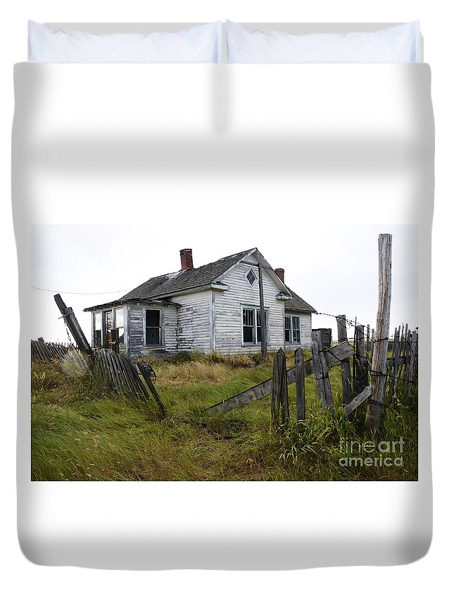 Yard Duvet Cover featuring the photograph Yard Needs A Little Tlc by Bob Christopher