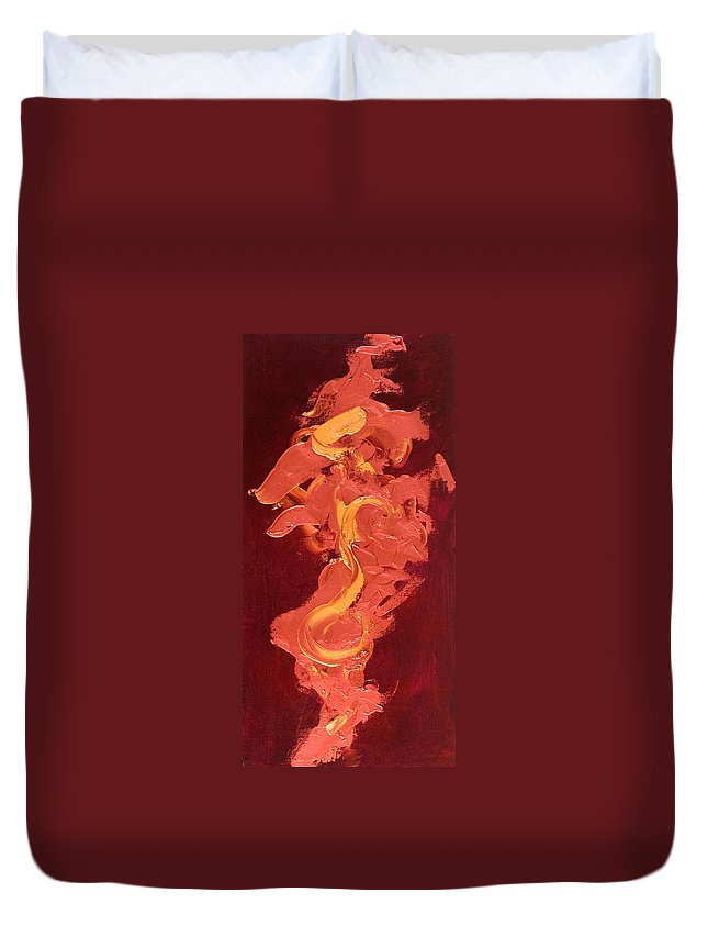Year Of The Dog Duvet Cover featuring the painting Year of the Dog by Shannon Grissom