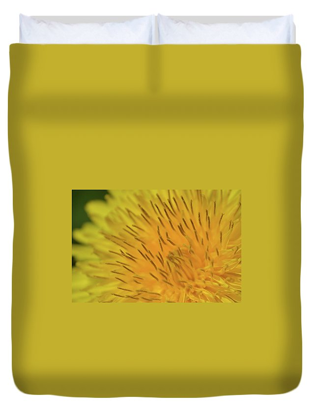 Yellow Duvet Cover featuring the photograph Yellow Beauty by JD Grimes