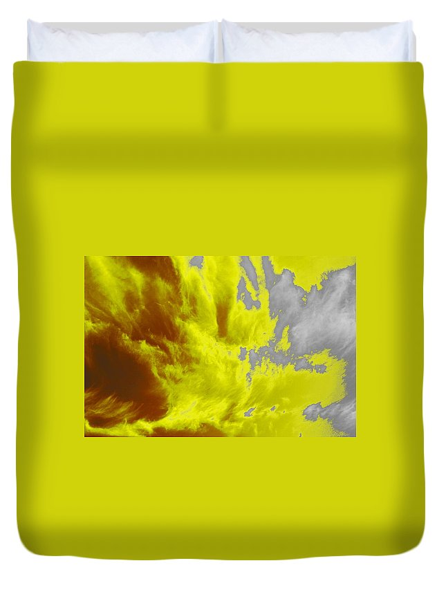 Clouds Duvet Cover featuring the photograph Yellow Sky by One Rude Dawg Orcutt