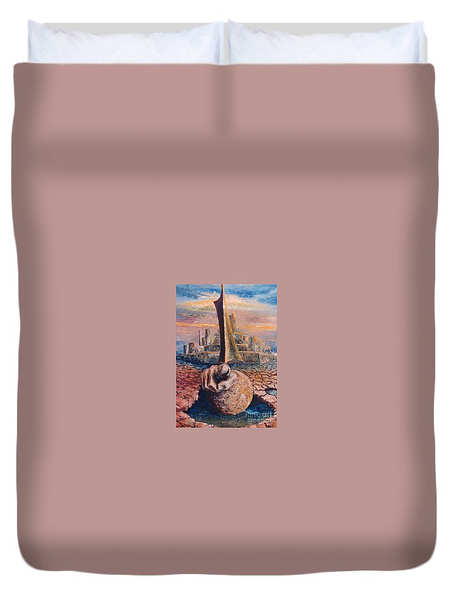 You Duvet Cover featuring the painting You by Eva-Maria Di Bella