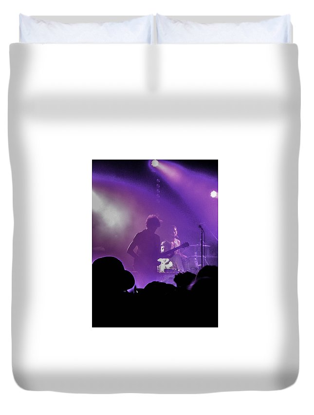 Austin Duvet Cover featuring the photograph Young The Giant At Stubbs. by Josh Scanlon