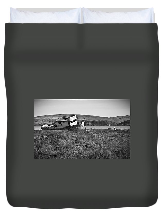 Boat Duvet Cover featuring the photograph Young Visitor by Priya Ghose