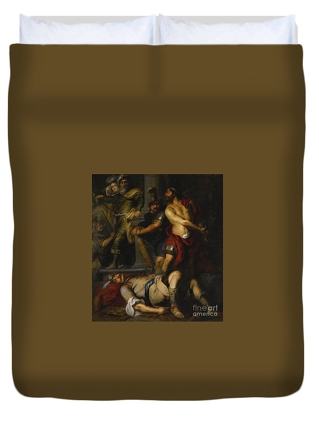 Flemish School Duvet Cover featuring the painting A Roman Execution by Celestial Images