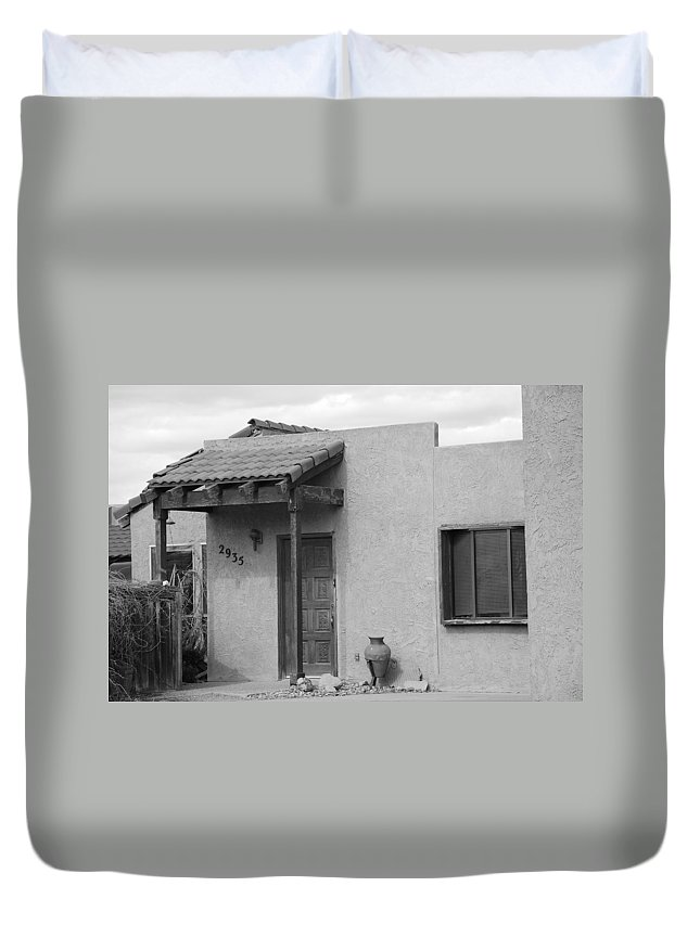Architecture Duvet Cover featuring the photograph Adobe House by Rob Hans