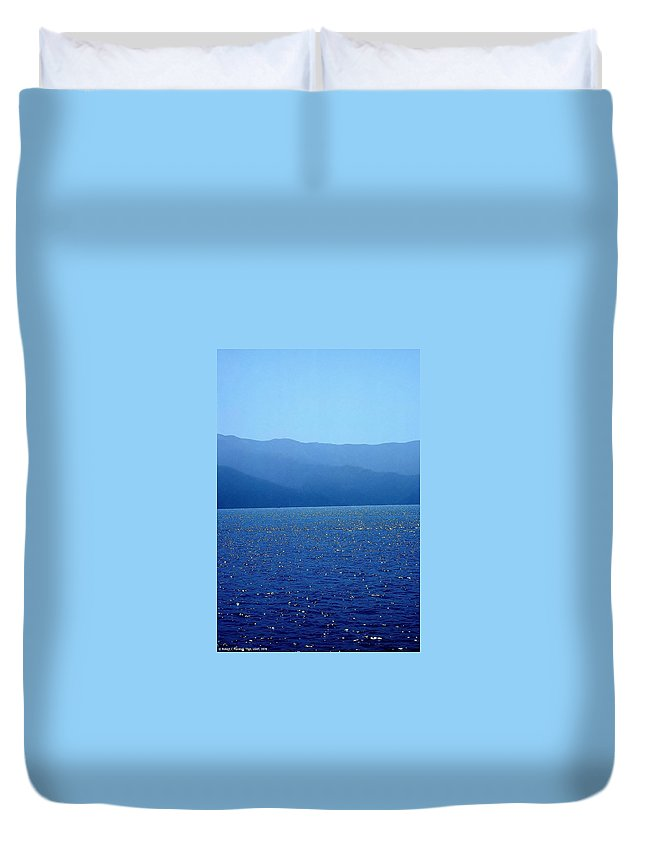 Catalina Island Duvet Cover featuring the photograph Catalina Island, #2 - Seascape, 1978 by Robert C Marshall