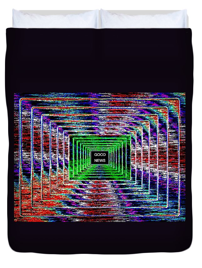 Good News Duvet Cover featuring the digital art Good News by Will Borden