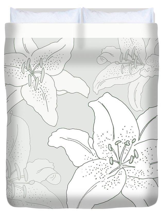 Leaf Duvet Cover featuring the digital art Juliette by Sarah Hough