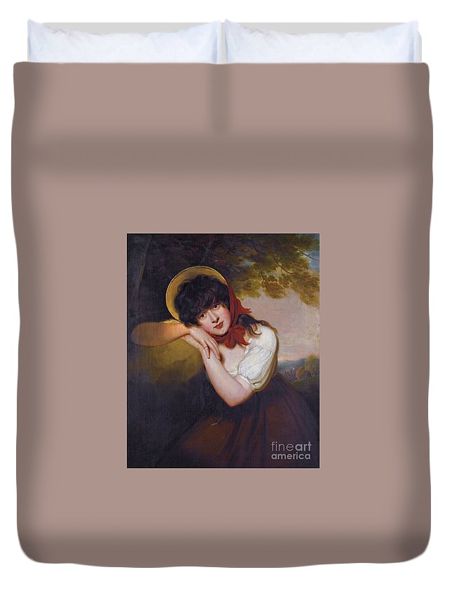 Sir Martin Archer She ( 1769- 1850) Maria Tollemache Duvet Cover featuring the painting Maria Tollemache by Celestial Images
