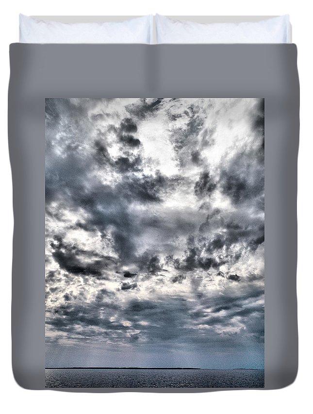 Lehtokukka Duvet Cover featuring the photograph Mental Seaview by Jouko Lehto