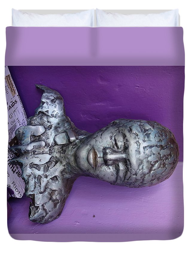 Duvet Cover featuring the sculpture -- by Ronex Ahimbisibwe