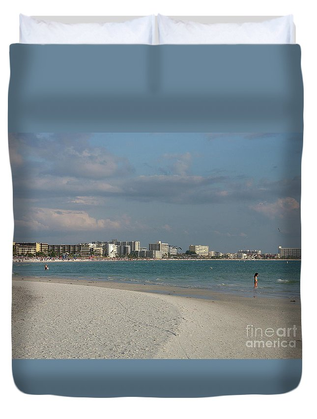 Beach Duvet Cover featuring the photograph Siesta Key Beach by Christiane Schulze Art And Photography