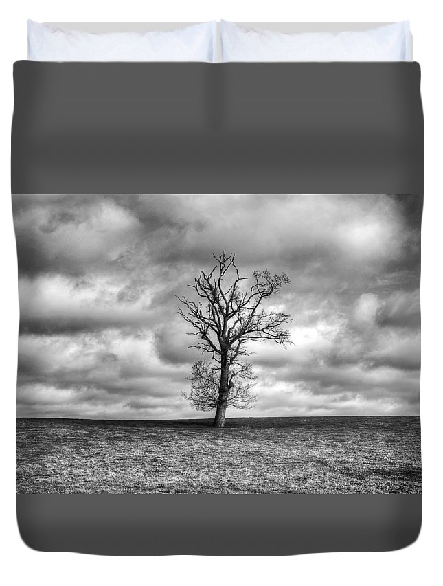 Single Tree Duvet Cover featuring the photograph Single Tree by Dave Godden