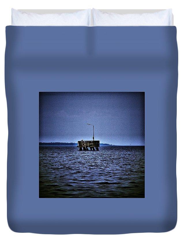 Lehtokukka Duvet Cover featuring the photograph The Dock Of Loneliness by Jouko Lehto