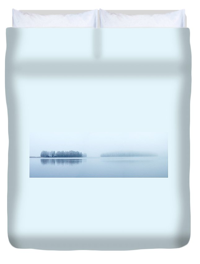 Järvi Lake Duvet Cover featuring the photograph Two Islands by Jouko Lehto