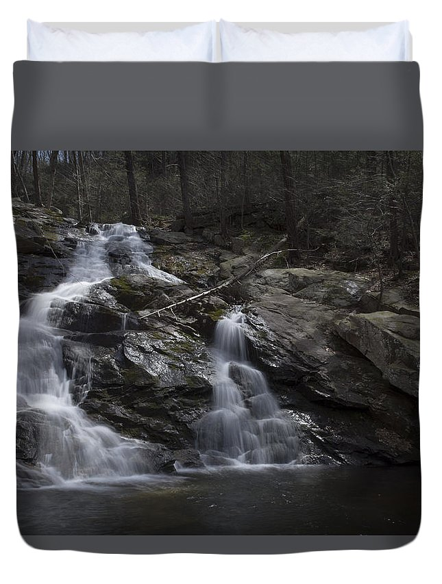 Waterfall Duvet Cover featuring the photograph Water Slide by Angelo Marcialis