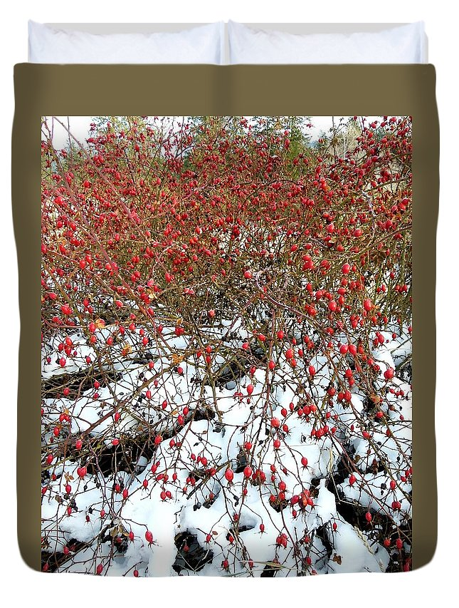 Winter Duvet Cover featuring the photograph Winter Harvest 2 by Will Borden