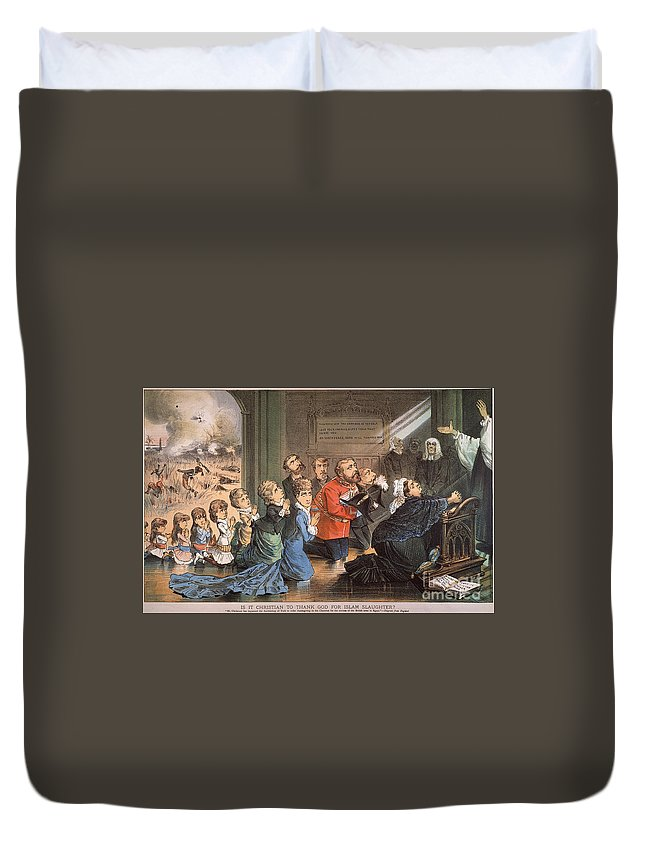 1882 Duvet Cover featuring the painting British Imperialism, 1882 by Granger