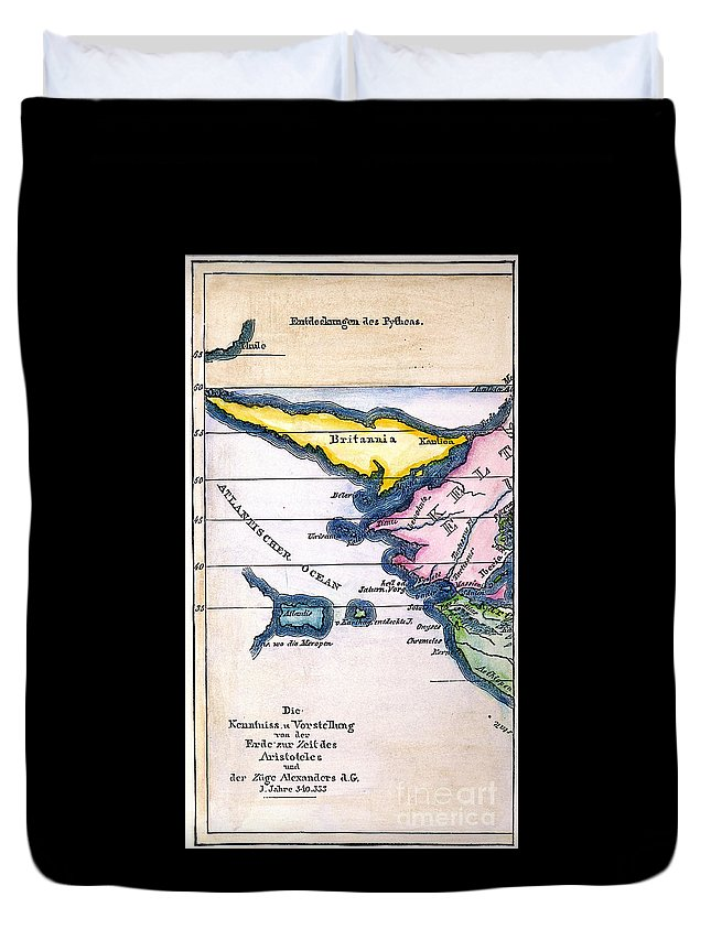1831 Duvet Cover featuring the painting Atlantis: Map, 1831 by Granger