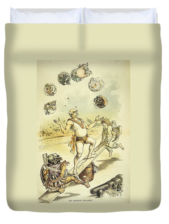 1887 Duvet Cover featuring the painting Otto Von Bismarck by Granger