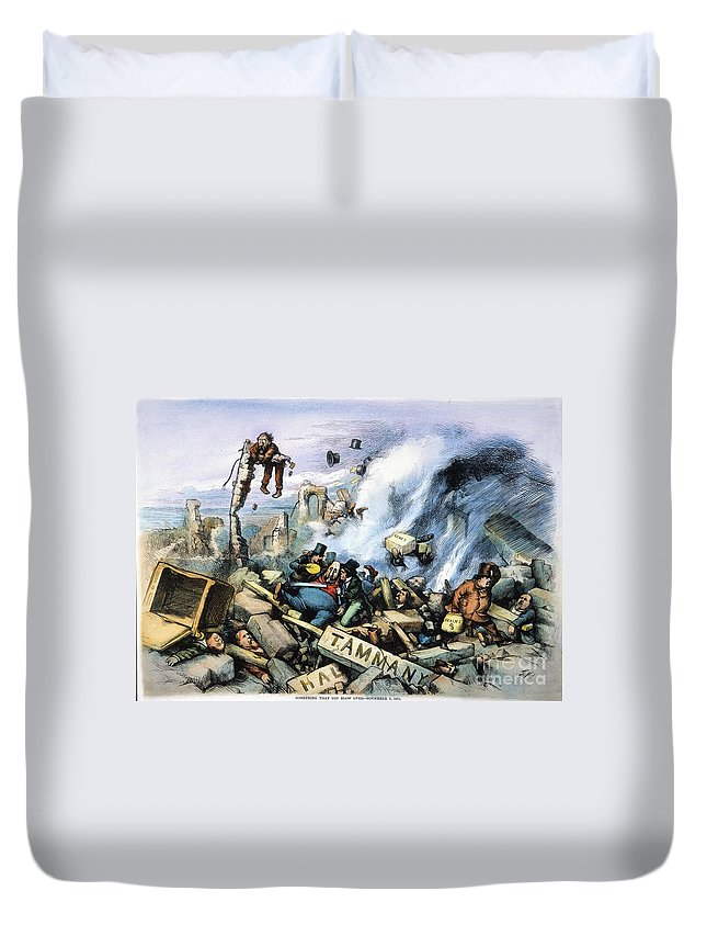 1871 Duvet Cover featuring the painting Nast: Tweed Ring Downfall by Granger