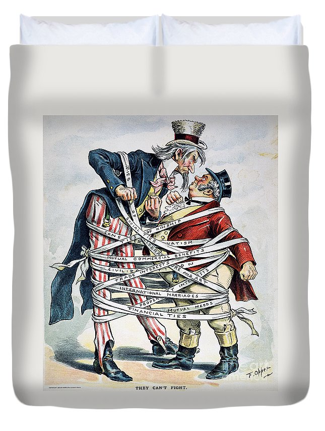 1896 Duvet Cover featuring the painting Venezuela Boundary, 1896 by Granger