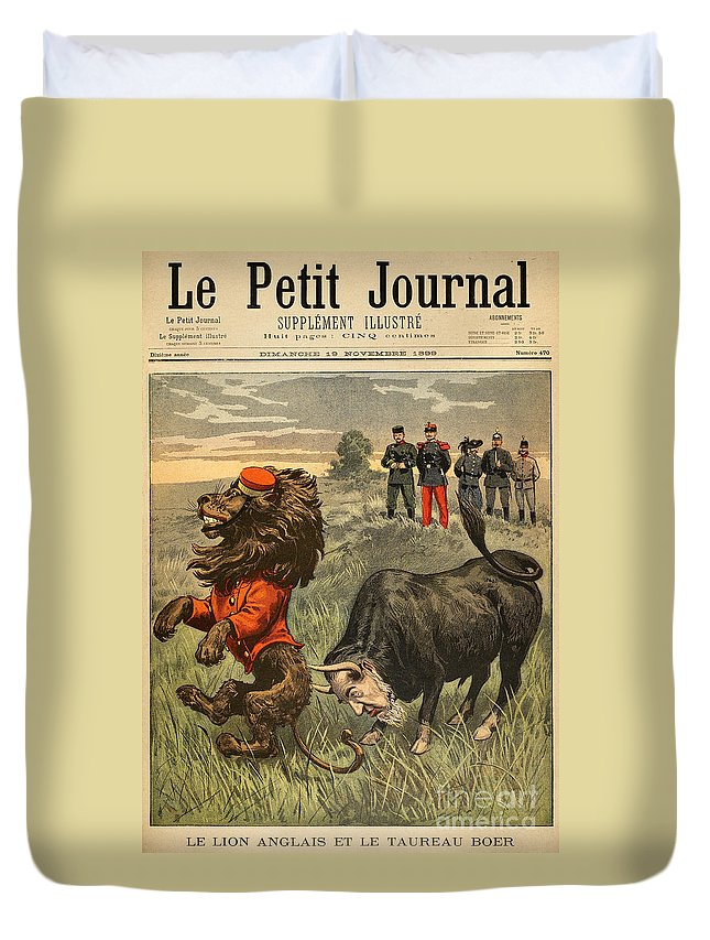 1899 Duvet Cover featuring the painting Boer War Cartoon, 1899 by Granger
