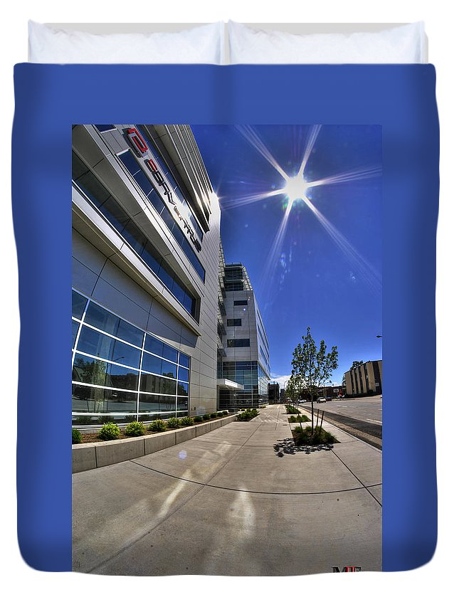 Buffalo Duvet Cover featuring the photograph 01 Conventus Medical Building On Main Street by Michael Frank Jr