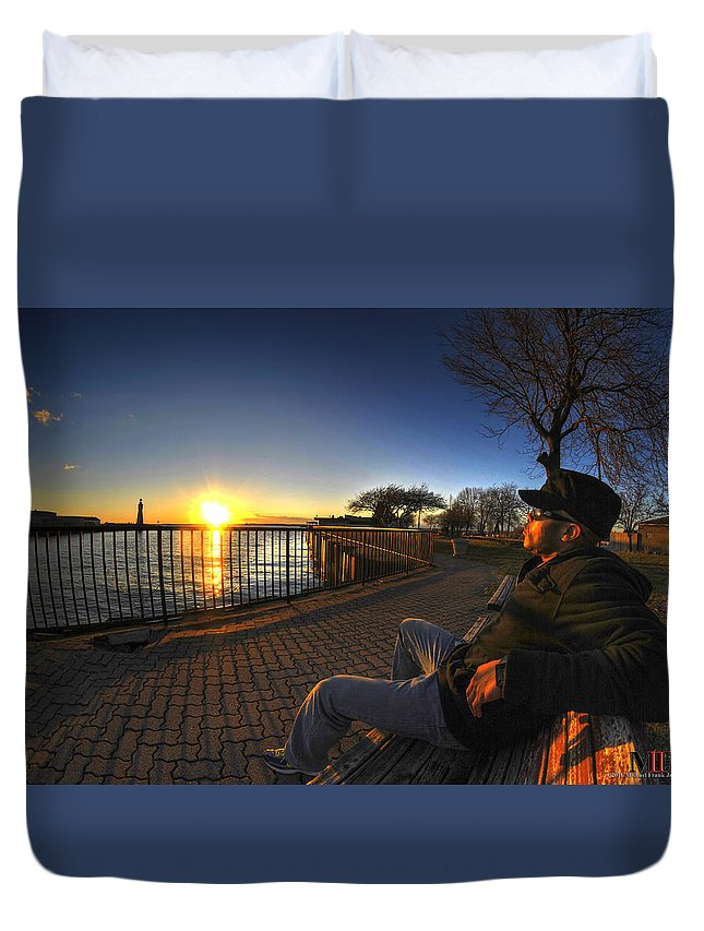 Buffalo Duvet Cover featuring the photograph 01 Me Sunset 16mar16 by Michael Frank Jr