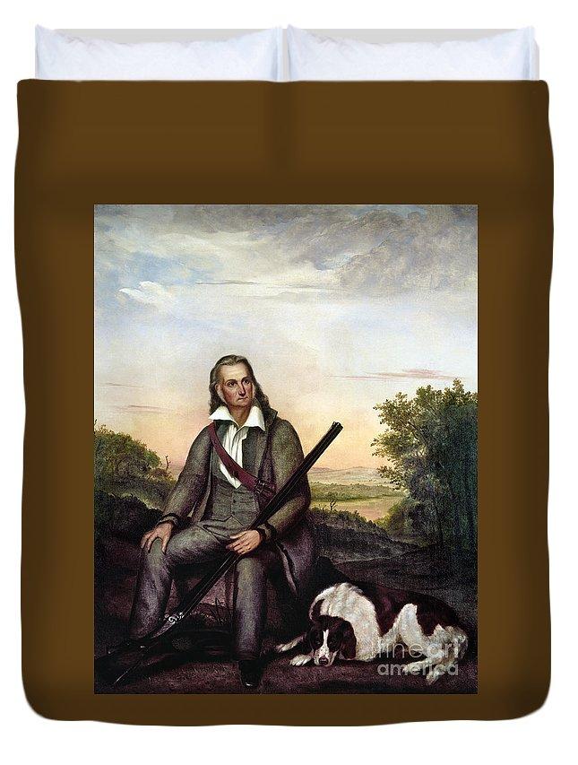 1841 Duvet Cover featuring the painting John James Audubon by Granger