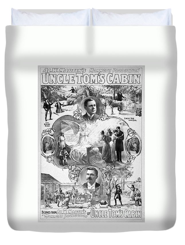 1899 Duvet Cover featuring the painting Uncle Tom's Cabin, C1899 by Granger