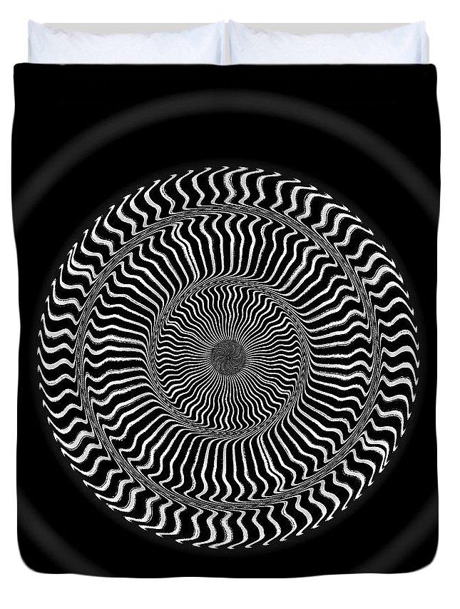 B&w Duvet Cover featuring the digital art #0110201510 by Visual Artist Frank Bonilla