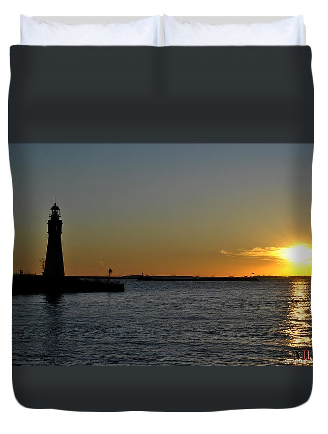 Buffalo Duvet Cover featuring the photograph 012 Sunset 16mar16 by Michael Frank Jr
