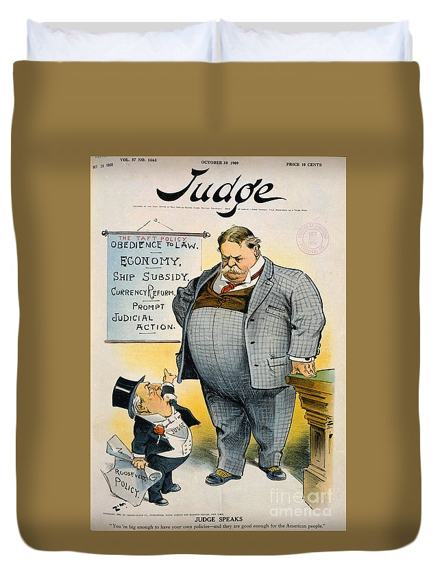 1909 Duvet Cover featuring the painting William Howard Taft by Granger
