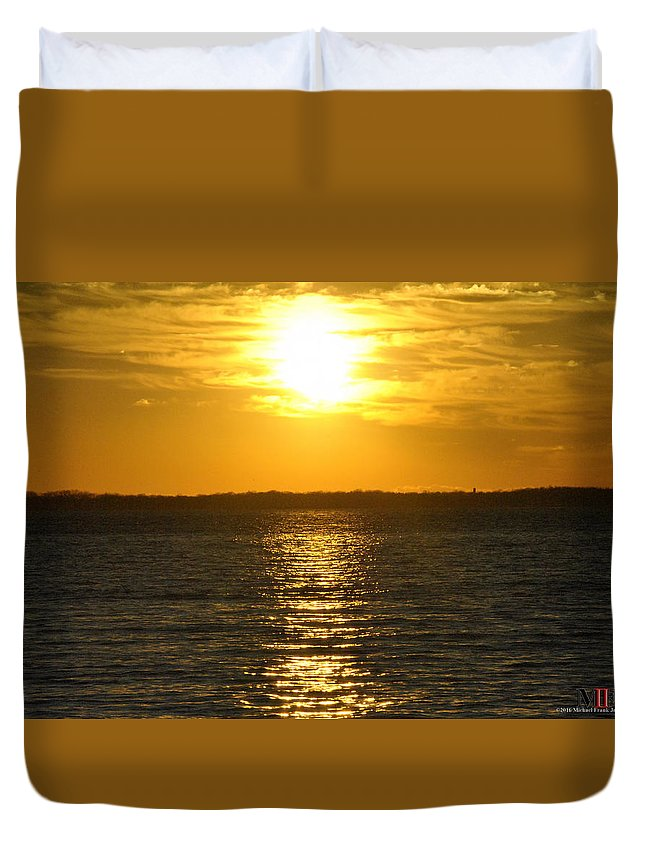 Buffalo Duvet Cover featuring the photograph 013 Sunset 16mar16 by Michael Frank Jr