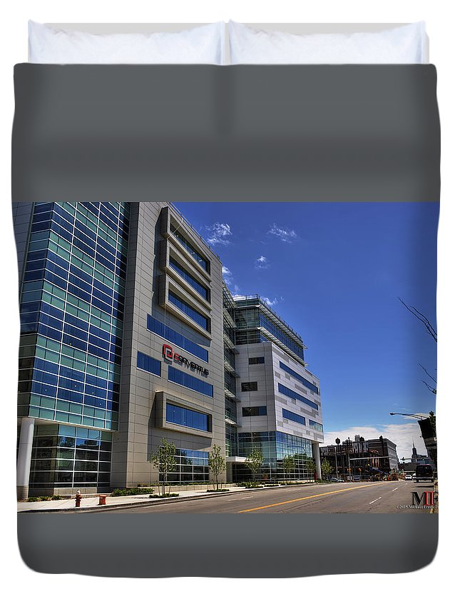 Buffalo Duvet Cover featuring the photograph 02 Conventus Medical Building On Main Street by Michael Frank Jr