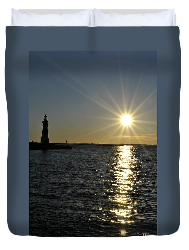 Buffalo Duvet Cover featuring the photograph 02 Sunset 16mar16 by Michael Frank Jr