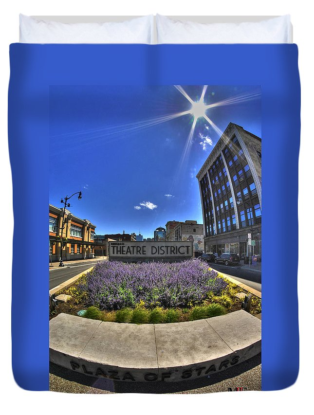 Buffalo Duvet Cover featuring the photograph 05 Plaza Of Stars by Michael Frank Jr