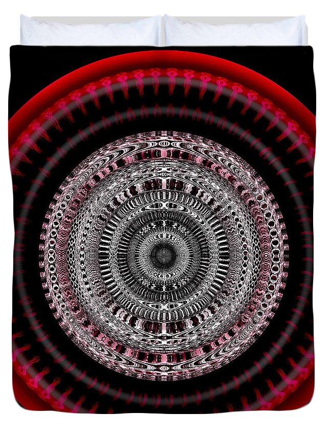 Circle Duvet Cover featuring the digital art #050820155 by Visual Artist Frank Bonilla