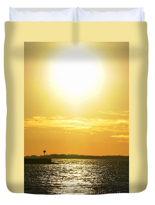 Buffalo Duvet Cover featuring the photograph 07 Sunset 16mar16 by Michael Frank Jr
