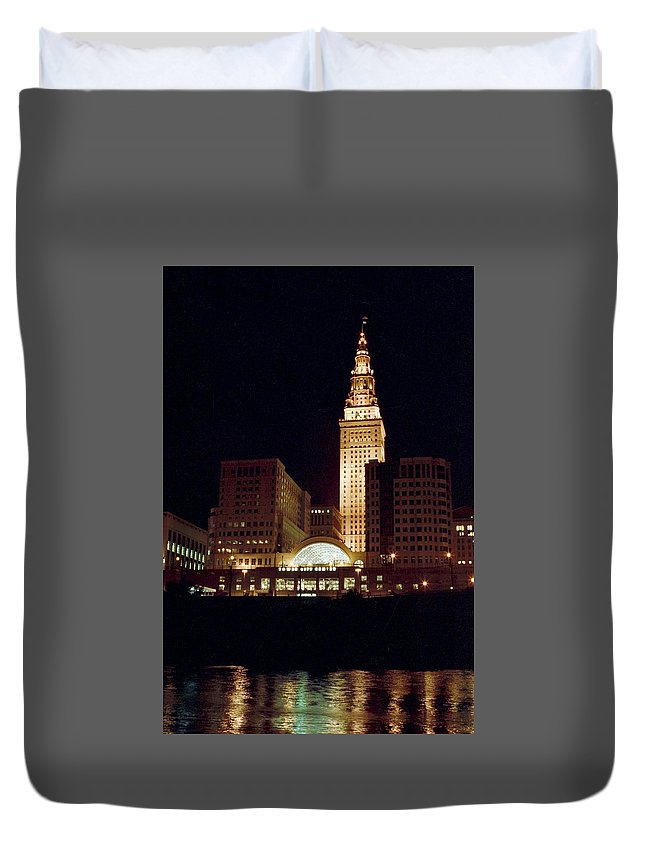 Cleveland Duvet Cover featuring the photograph 070506-73 by Mike Davis