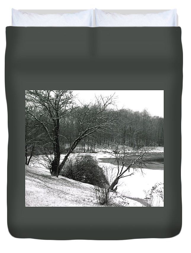 Scenic Duvet Cover featuring the photograph 072606-24a by Mike Davis