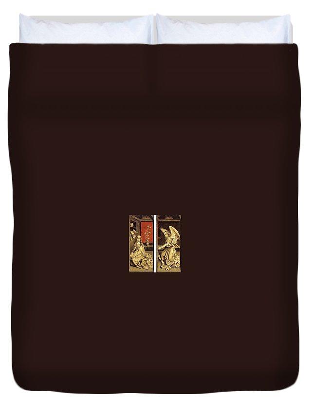 Sculpture Duvet Cover featuring the digital art 07464 Rogier Van Der Weyden by Eloisa Mannion