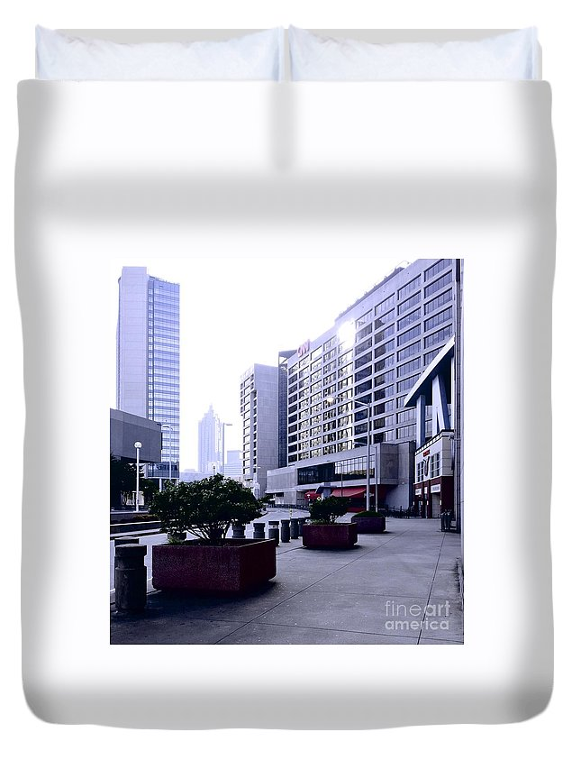 Cnn Duvet Cover featuring the photograph 09032015015 by Debbie L Foreman